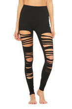 Load image into Gallery viewer, Alo Yoga Extreme Ripper Warrior Legging - Black