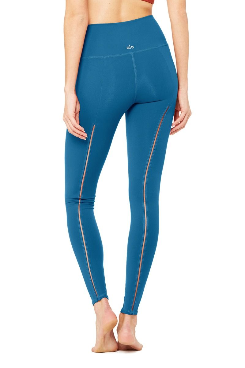 Alo Yoga High-Waist Dash Legging - Legion Blue