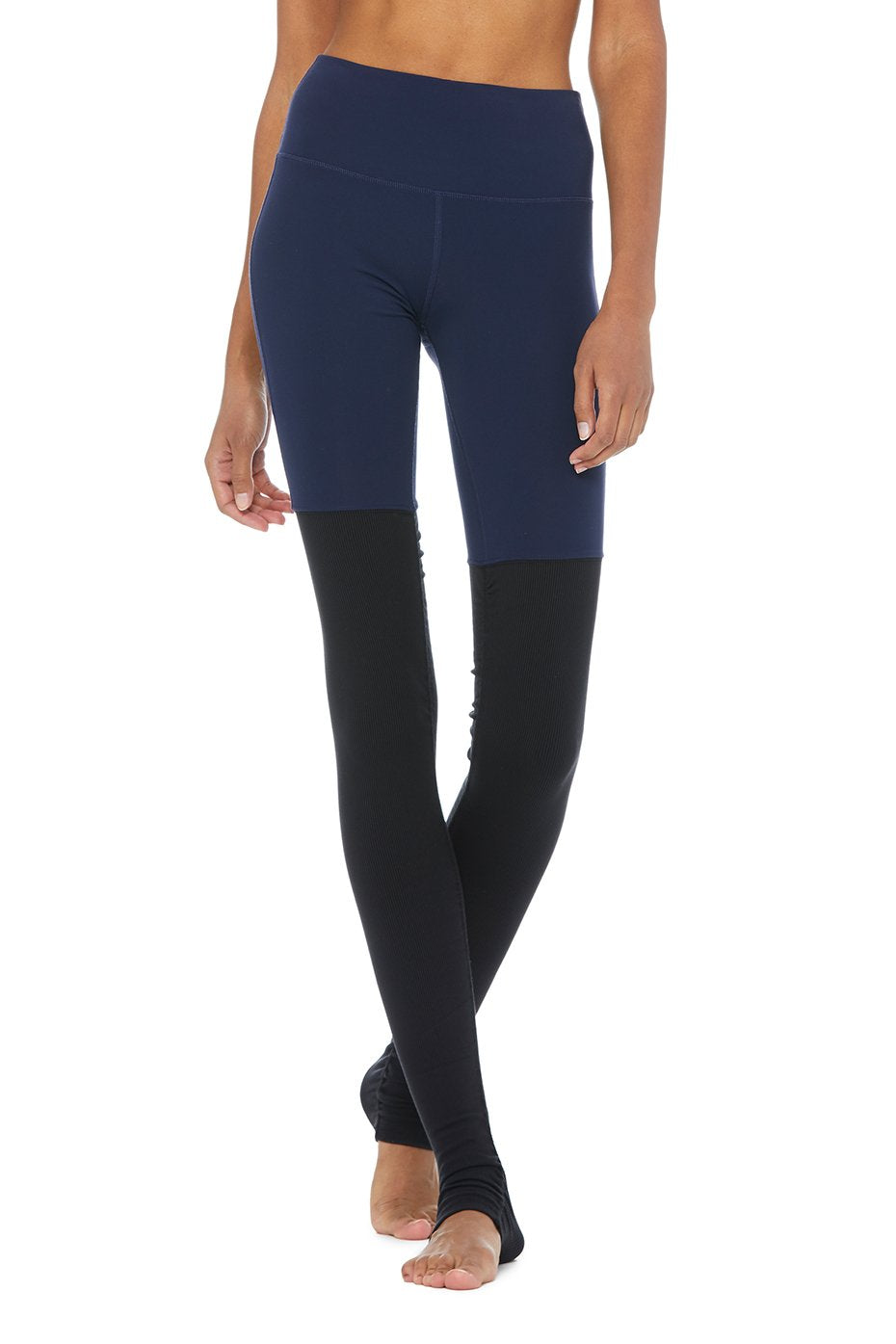 Alo Yoga High-Waist Goddess Legging - Rich Navy/Black