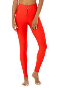 Alo Yoga XXS High-Waist Fast Legging - Cherry