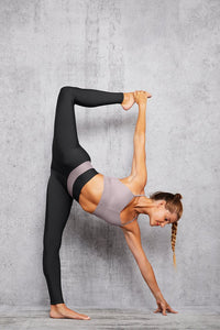 Alo Yoga SMALL High-Waist Fitness Legging - Anthracite/Lavender Smoke