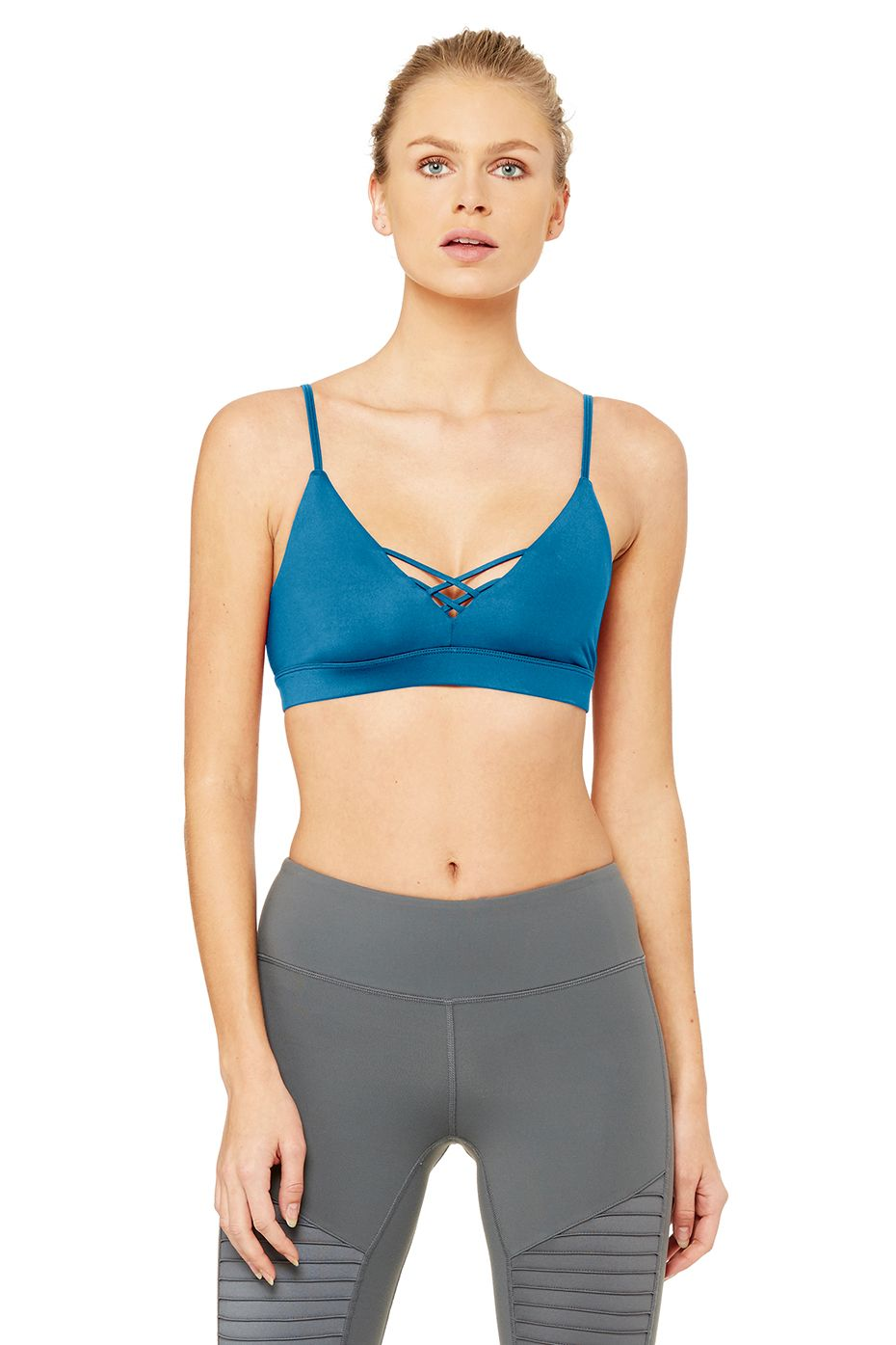 Alo Yoga Interlace Bra - Legion Blue