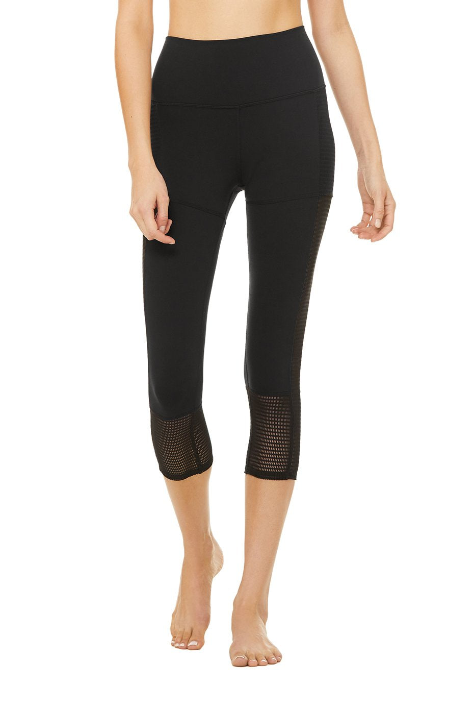 Alo Yoga SMALL Off The Grid Capri - Black