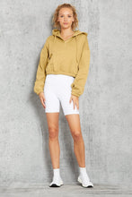 Load image into Gallery viewer, Alo Yoga SMALL Stadium Half Zip Hoodie - Honey
