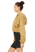 Load image into Gallery viewer, Alo Yoga XS Stadium Half Zip Hoodie - Honey