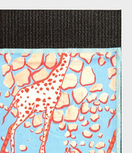 Load image into Gallery viewer, Manduka Equa® Yoga Towel - Giraffes Blue Limited Edition