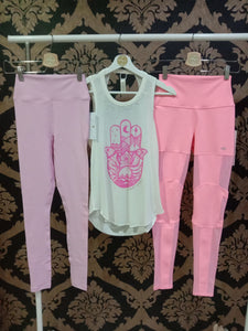 Spiritual Gangster MEDIUM Sg Varsity Essential High-Waist Legging - Paradise Pink