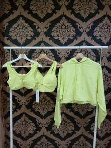 Alo Yoga XS United Long Bra - Shock Yellow