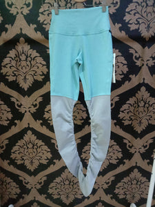 Alo Yoga SMALL High-Waist Goddess Legging - Blue Quartz/Dove Grey Heather