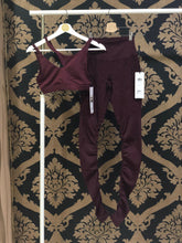 Load image into Gallery viewer, Alo Yoga XS High-Waist Alosoft Goddess Legging - Black Cherry Heather