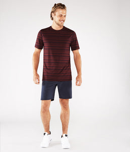 Manduka Men's Cross Train Tee - Port/Midnight