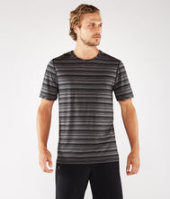 Load image into Gallery viewer, Manduka Men's Cross Train Tee - Black/Thunder
