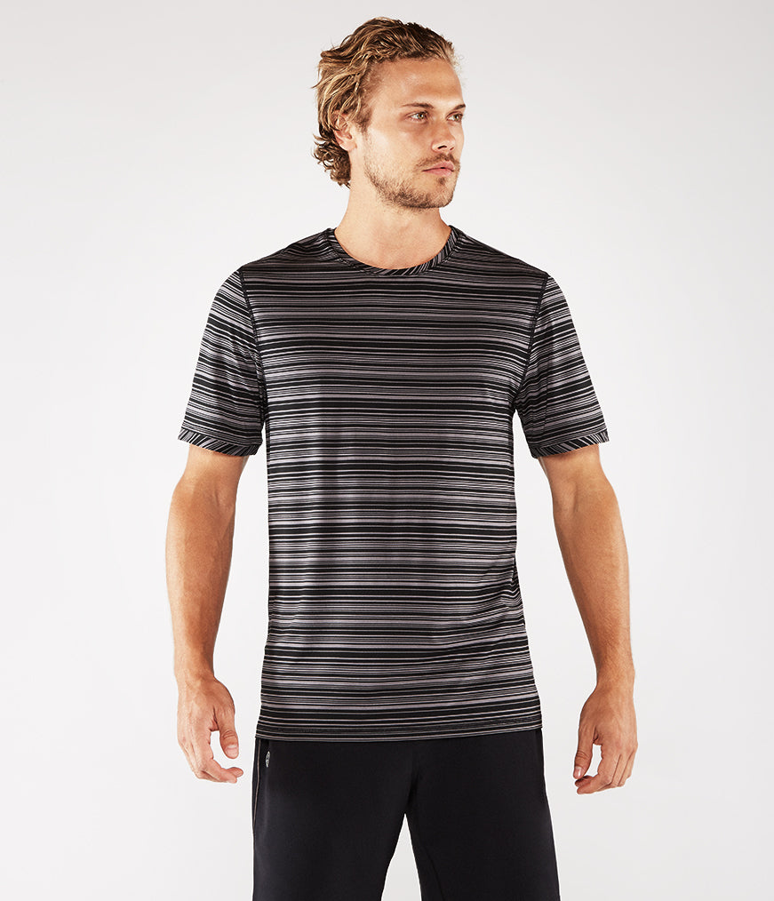 Manduka Men's Cross Train Tee - Black/Thunder
