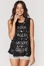 Load image into Gallery viewer, Spiritual Gangster Moon Child Gigi Muscle Tank - Speckle Bleach Dye