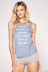 Spiritual Gangster Only From The Heart Muscle Tank - Dusk Blue