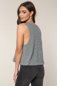 Spiritual Gangster SG Varsity Crop Tank - Heather Grey
