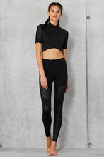 Load image into Gallery viewer, Alo Yoga XS High-Waist Moto Legging - Black Glossy