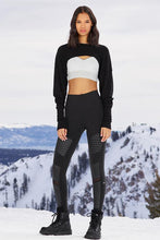 Load image into Gallery viewer, Alo Yoga XXS High-Waist Moto Legging - Black Glossy