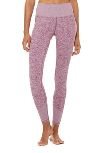 Alo Yoga SMALL 7/8 High-Waist Lounge Legging - Dragonfruit Heather