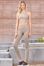 Load image into Gallery viewer, Alo Yoga SMALL High-Waist Alosoft Lounge Legging - Gravel Heather