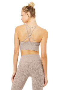 Alo Yoga XS Alosoft Lavish Bra - Gravel Heather