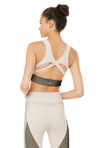 Alo Yoga SMALL Electric Bra - Bone