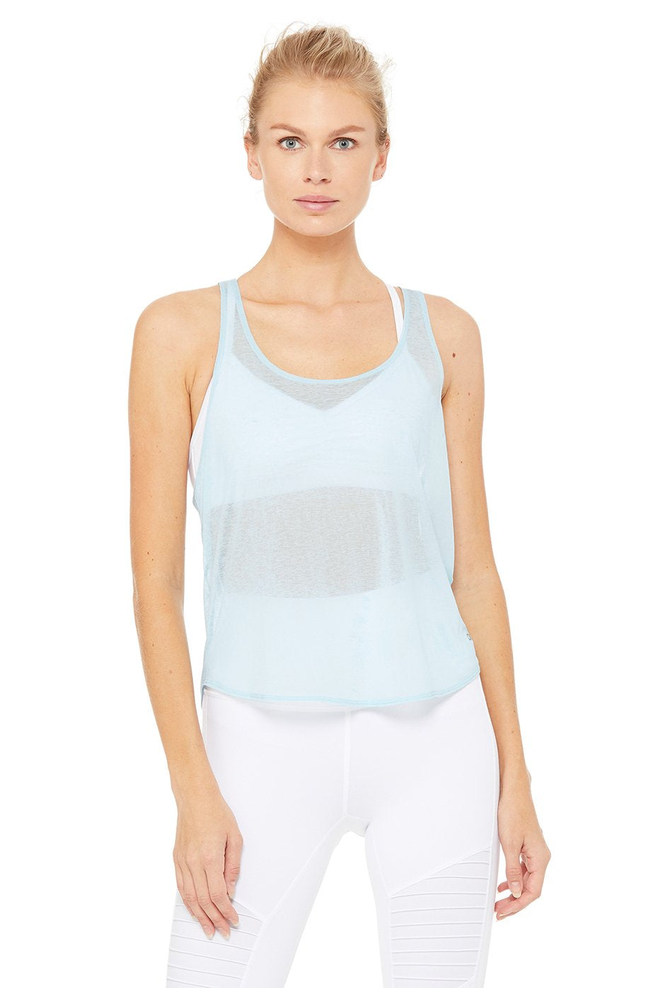 Alo Yoga XS Arrow Tank - Powder Blue