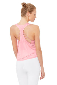 Alo Yoga XS Arrow Tank - Flamingo