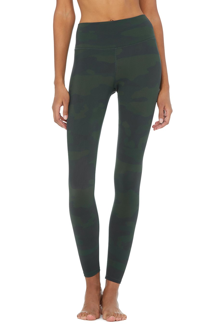Alo Yoga SMALL High-Waist Camo Vapor Legging - Hunter Camouflage