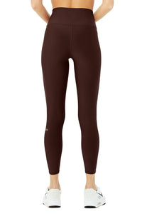 Alo Yoga SMALL 7/8 High-Waist Airlift Legging - Cherry Cola