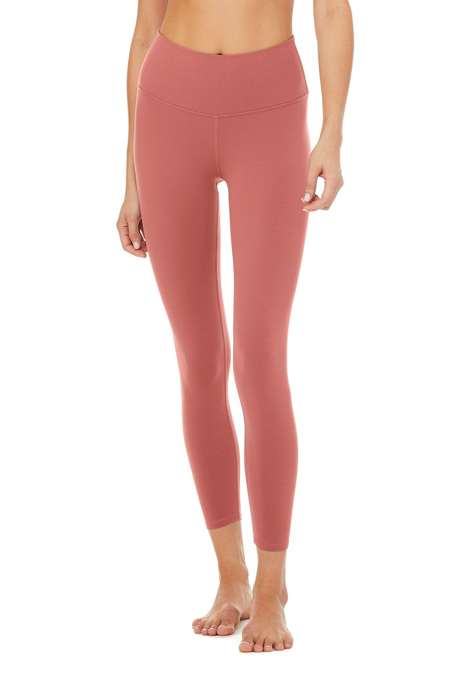 Alo Yoga 7/8 High-Waist Airbrush Legging - Rosewood