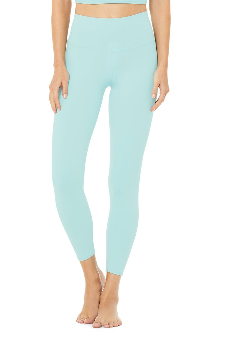 Alo Yoga XS 7/8 High-Waist Airbrush Legging - Blue Quartz