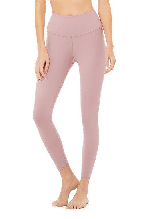 Alo Yoga XXS 7/8 High-Waist Airbrush Legging - Dusted Plum