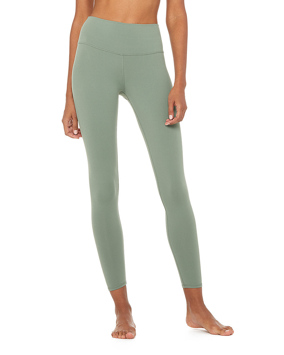 Alo Yoga XS 7/8 High-Waist Airbrush Legging - Moss