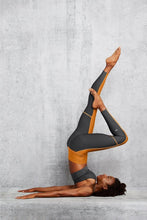 Load image into Gallery viewer, Alo Yoga SMALL 7/8 High-Waist Element Legging - Bronzed/Anthracite
