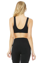 Load image into Gallery viewer, Alo Yoga XS Ambient Logo Bra - Black