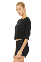 Load image into Gallery viewer, Alo Yoga Abyss Short Sleeve Top - Black
