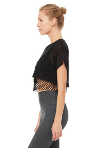 Alo Yoga XS AfterGlow Tee - Black