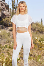 Load image into Gallery viewer, Alo Yoga XS AfterGlow Tee - White