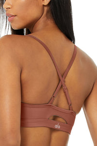 Alo Yoga SMALL Airlift Intrigue Bra - Chesnut
