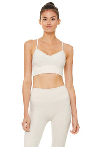 Alo Yoga XS Alosoft Lavish Bra - Bone Heather