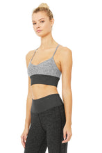 Load image into Gallery viewer, Alo Yoga MEDIUM Alosoft Lavish Bra - Dove Grey Heather/ Dark Heather Grey