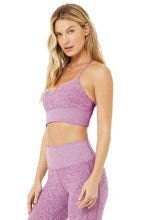 Load image into Gallery viewer, Alo Yoga SMALL Alosoft Lavish Bra - Electric Violet Heather