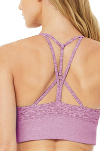 Alo Yoga SMALL Alosoft Lavish Bra - Electric Violet Heather