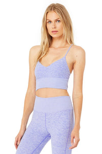 Alo Yoga SMALL Alosoft Lavish Bra - Periwinkle Heather