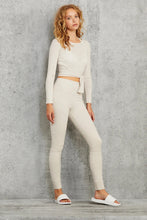 Load image into Gallery viewer, Alo Yoga XS Barre Long Sleeve - Bone