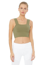 Load image into Gallery viewer, Alo Yoga Bind Fitted Bra Tank - Olive