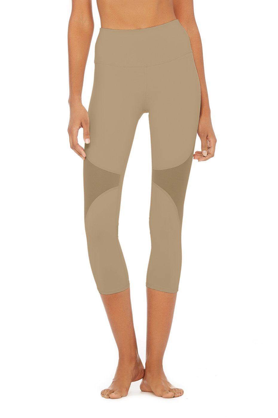 Alo Yoga XS High-Waist Coast Capri - Gravel