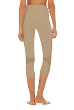 Load image into Gallery viewer, Alo Yoga XS High-Waist Coast Capri - Gravel