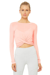 Alo Yoga Cover Long Sleeve Top - Powder Pink